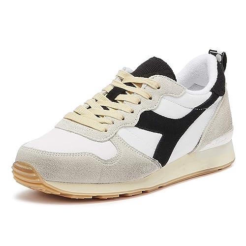 Diadora Camaro Uomo Bianco Nero Sneaker  MainApps  Amazon.it  Scarpe e borse 3f999727ded