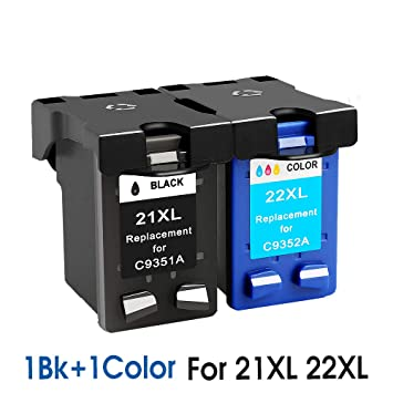 Cartucho de Tinta de Repuesto para HP 21 HP21 para HP 21xl ...