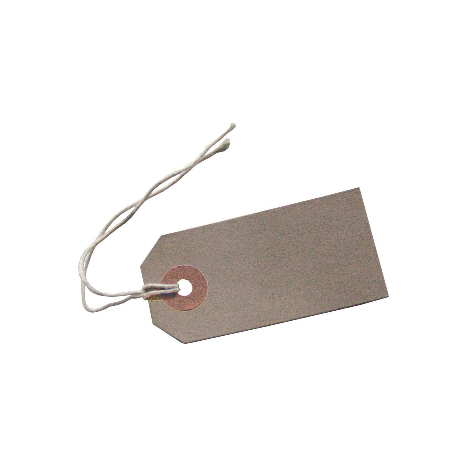 100 Reinforced Brown Buff Luggage Tags Labels with String Strung Suitcase Ties 96 x 48mm -