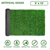 LITA Premium Artificial Grass 5' x 10' (50 Square Feet) Realistic Fake Grass Deluxe Turf Synthetic Turf Thick Lawn Pet Turf -Perfect indoor/outdoor Landscape - Customized