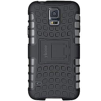 def2510fb49 ykooe Funda Samsung Galaxy S5, Teléfono Híbrida de Doble Capa con Soporte  Carcasa para Samsung