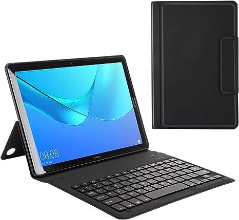 MoKo Huawei MediaPad M5 10.8 Keyboard Funda - Wireless Bluetooth Teclado Funda QWERTY para Huawei MediaPad M5 10.8 Pollici Tablet, Negro