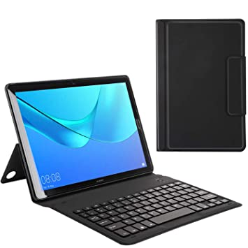 buy popular 69a69 a754f MoKo Huawei MediaPad M5 10.8 Inch Tablet Bluetooth Keyboard Case - Wireless  Keyboard Cover with Auto Wake/Sleep for Huawei MediaPad M5 10.8 Inch ...