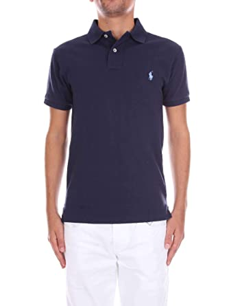 Polo Ralph Lauren SS Slim FIT Mesh Polo, Azul (Newport Navy XWGKJ ...