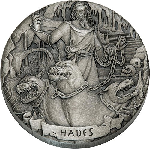 2017 CK Modern Commemorative HADES Gods of Olympus 2 Oz Silver Coins 2$ Cook Islands 2017 Antique Finish