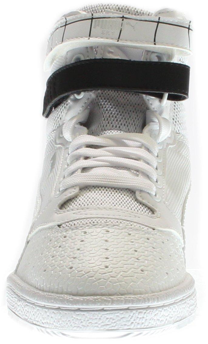 PUMA Women's Sky Ii Hi Sf Texture WN's Basketball Shoe, White Black, 8.5 M US by PUMA (Image #5)