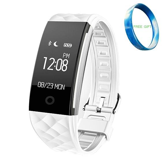 S2 Smart Wristband, JIAMEIYI smartband Monitor de Ritmo Cardíaco con Sleep & Sport Tracker Multifuncional Bluetooth Pulsera Impermeable con Pantalla ...