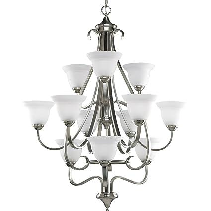progress lighting p4419 09 12 light three tier torino chandelier