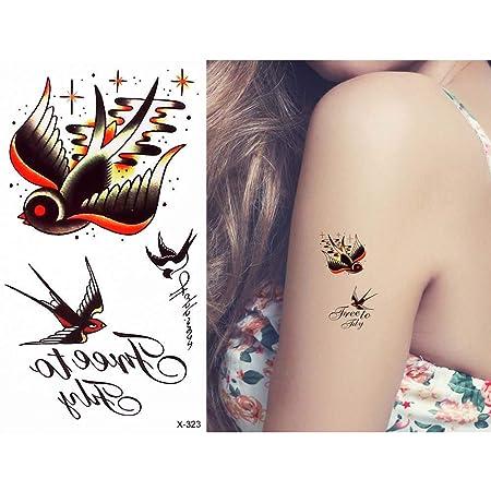 adgkitb 5 Piezas Tatuaje Impermeable Cintura Brazo calcomanía ...