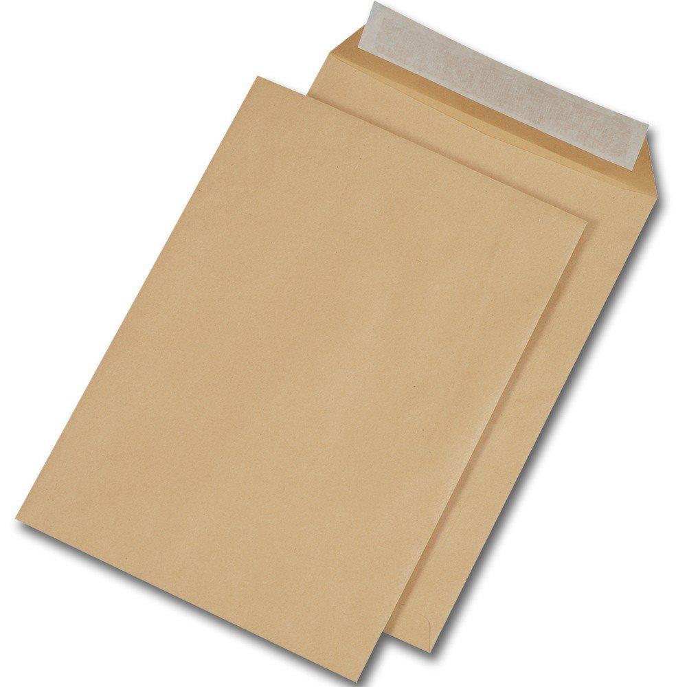 1000 Stück Versandtaschen DIN C4 mit Fenster 229 x 324 mm HK 110 g//m² BRAUN