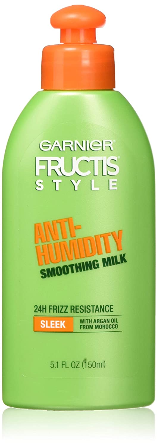 Garnier Fructis Style Anti-Humidity Smoothing Milk, All Hair Types, 5.1 oz. (Packaging May Vary)