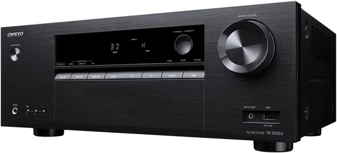 Onkyo TX-SR353: Detailed sound, built-in Bluetooth, auto-room calibration system