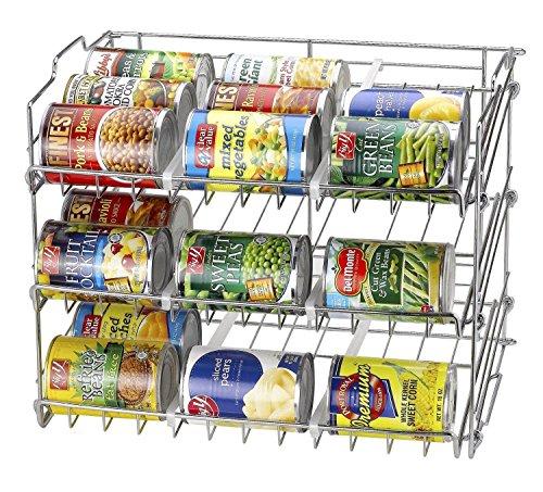36 Can Rack Holder Organizer Storage Kitchen Shelf Food Pantry Cabinet Cupboard