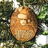 Ornament - Let it Snow - Raw Wood 4x3in