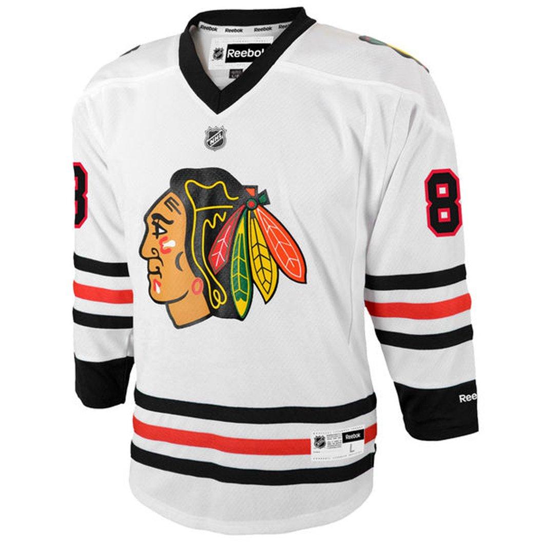 ... Amazon.com Patrick Kane Chicago Blackhawks 88 NHL Youth Away Jersey  White (Youth SM ... bb16655f4