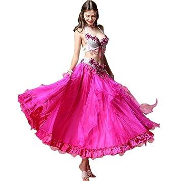 C&X Disfraz De Danza del Vientre para Mujer Adulta, Conjunto De Rendimiento para Danza Oriental