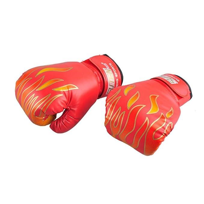 piel sint/ética, transpirables, con llama de MMA Handfly Guantes de boxeo para ni/ños