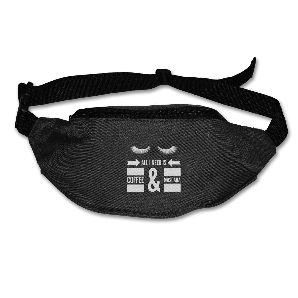 All I Need Is Coffee And Mascara Sport Waist Bag Fanny Pack Adjustable For Hike