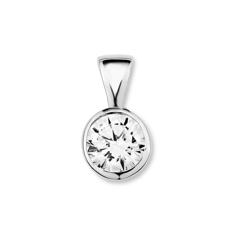 Amor Damen-Anhänger rund basic 925 Sterling Silber rhodiniert Zirkonia weiß 13 mm - 445498 Amor Jewelry 86096951