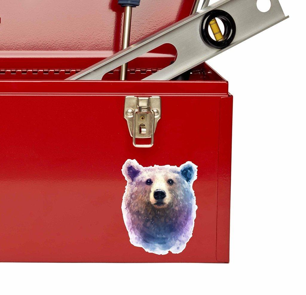 2 x 10cm//100mm Brown Bear Vinyl Sticker Decal Laptop Car Travel Luggage Label Tag #9625