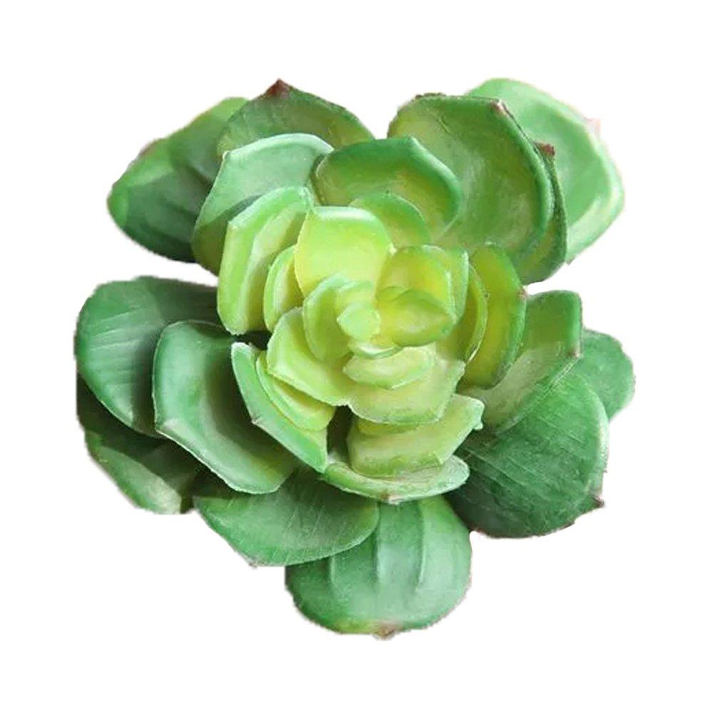 人工多肉植物ポット植物DIY材料装飾プラスチックホームインテリア グリーン Se10049-3 B07BF73XQ9  グリーン