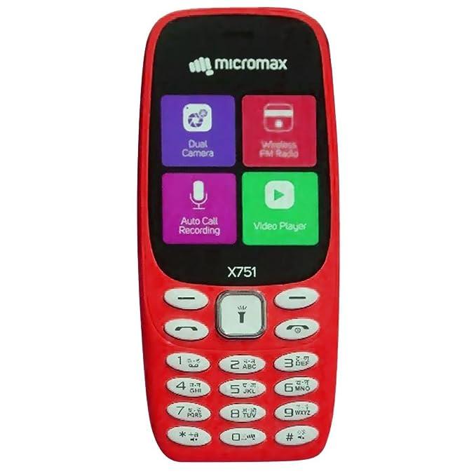Micromax X751 Dual SIM Basic Phone Blue