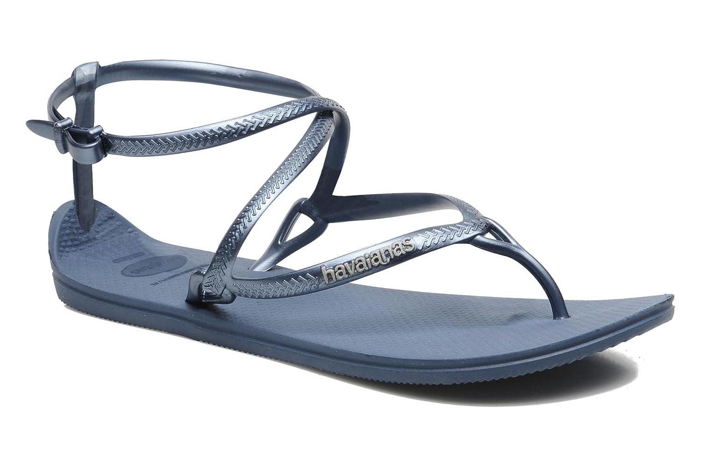 b44413e7c3d WOMENS PETROLEUM BLUE HAVAIANA H.GRACE BEACHWEAR SUMMER STRAP THONG FLIP  FLOPS SIZE UK 2 3  Amazon.co.uk  Shoes   Bags