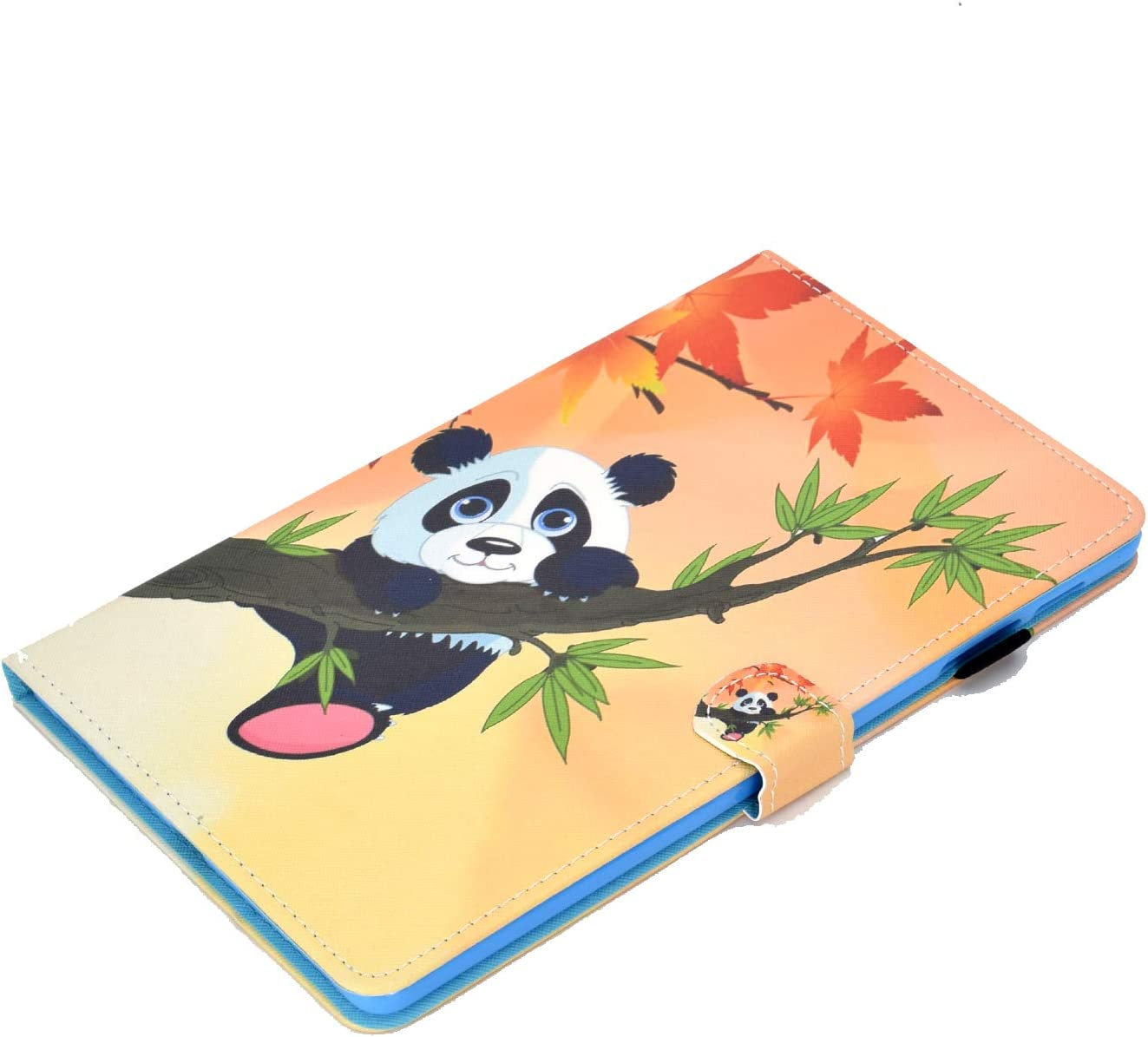 SM-T515 Music/Monkey Succtop Galaxy Tab A 2019 10.1 Inch Case PU Leather Wallet Flip Cover Magnetic Stand Function Tablet Case with Card Slot and Pen Holder for Samsung Galaxy Tab A 10.1 SM-T510
