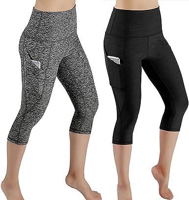 Pantalones Yoga Mujeres Pantalones Deportivos Mujer Mallas Deportivas Mujer 3/4 Yoga Leggins de Alta Cintura Elásticos y Transpirables para Running Fitness por Venmo: Amazon.es: Ropa y accesorios