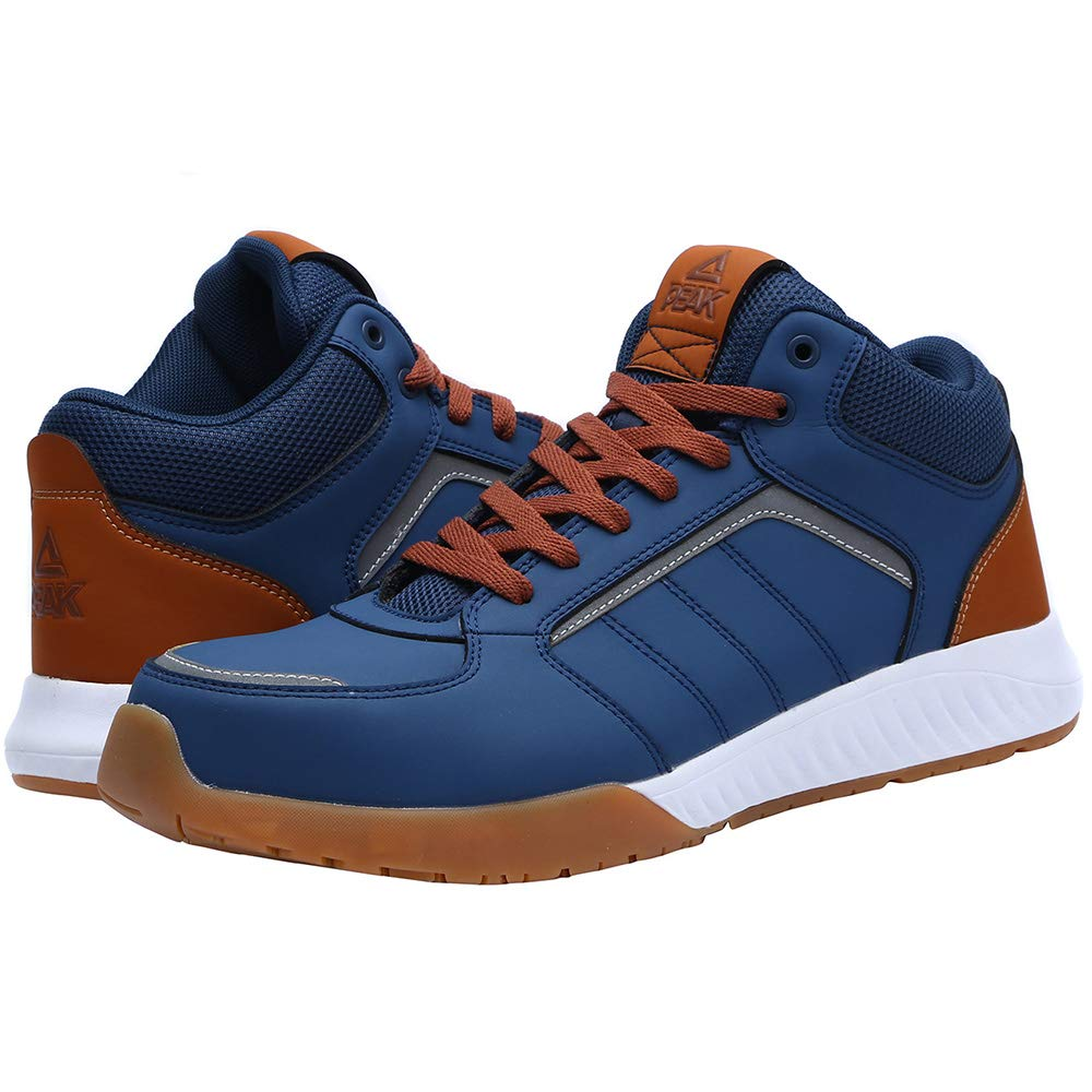 Unisex Steel Toe Work Shoes Industrial&Construction Shoes Puncture Proof Safety Shoes (man 8.5, 72012 blue) by PEAK (Image #5)
