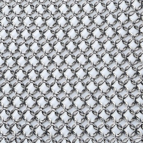 Tracy2811Store Cast Iron Cleaner - XXL 8x8 Stainless Steel Chainmail Scrubber, Cast Iron Skillet Cleaner