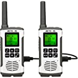 Retevis RT45 Walkie Talkie Adult Rechargeable,Long Range Two Way Radio,Flashlight AA 22CH VOX,for Family Outdoor Hiking…