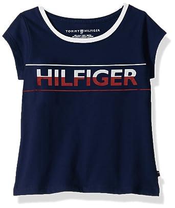 f64f185b3 Tommy Hilfiger Girls' Toddler TH Icon Tee, Flag Blue, ...