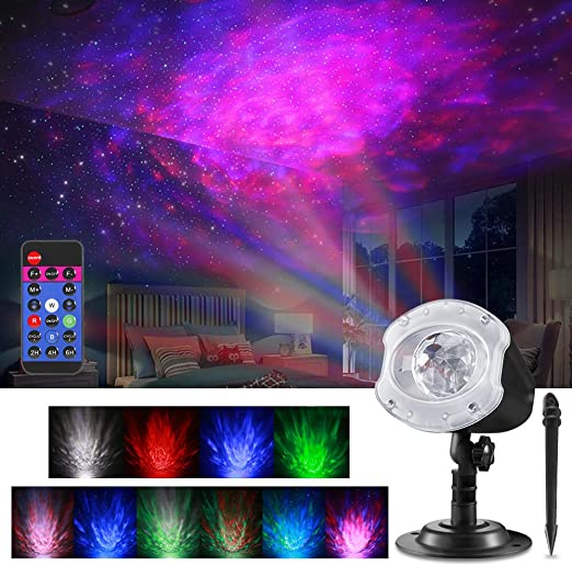 Amazon.com: ALOVECO - Proyector de luces LED con láser, 2 en ...