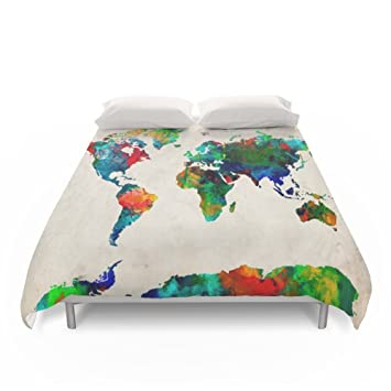 Amazon society6 world map duvet covers king 104 x 88 bekim society6 world map duvet covers king 104quot gumiabroncs Images