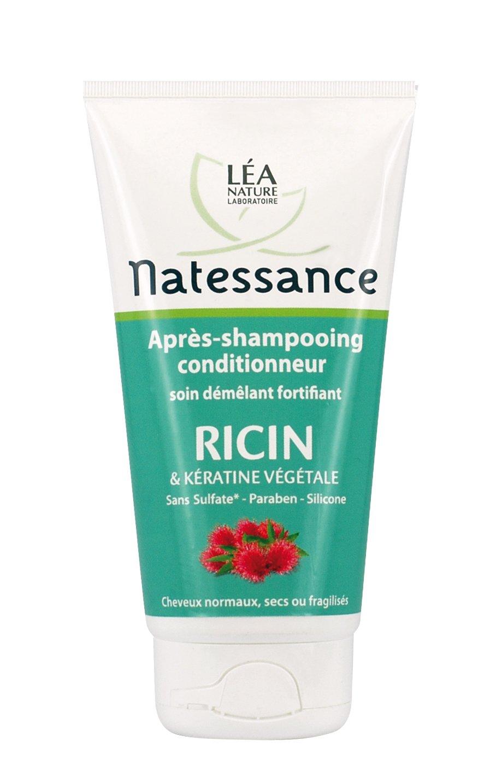Natessance Capillaire Après-shampooing Conditionneur À L'huile de Ricin et Kératine Végétale 150 ml 15269A