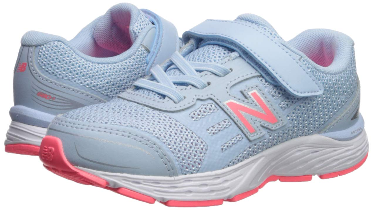 New Balance Girls' 680v5 Hook and Loop Running Shoe air/Guava 2 M US Infant by New Balance (Image #6)
