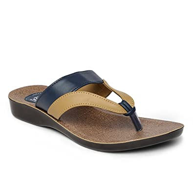 18232129a PARAGON SOLEA Women s Brown Flip-Flops  Buy Online at Low Prices in ...