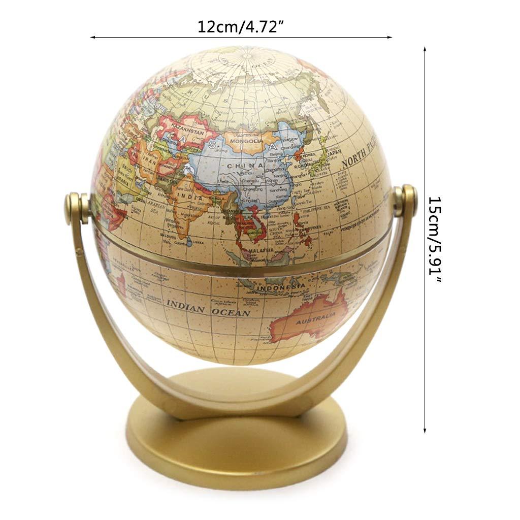 moonWANG - Globo de decoración de mapamundi, diseño Vintage en ...