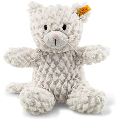 Steiff 099281 Cat, Light Grey, 28 cm: Toys & Games