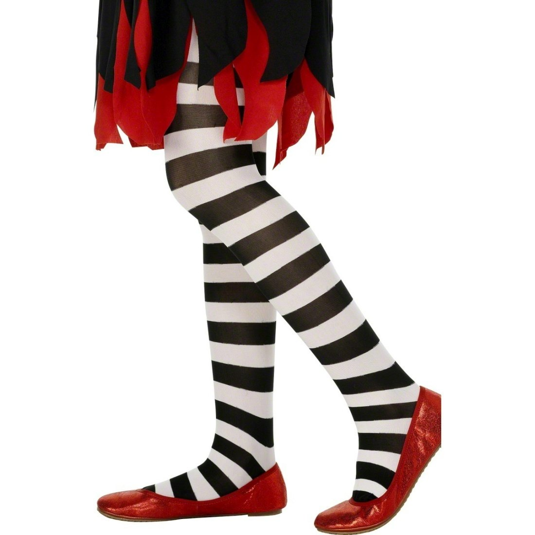 Amakando Striped pantyhose kids Children tights black and white Colorful pantihose stripy panty hose Child costume Accessory leggings