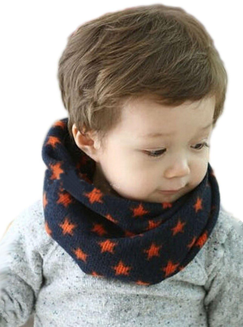 FakeFace Unisex Baby Toddler Kids Knit Loop Scarf Neck Gaiter Wrap Neckwarmer