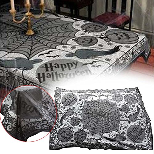 GSN Ghost Pumpkin Webs Halloween Indoor Tablecloth Dinner Table Decoration Cover -