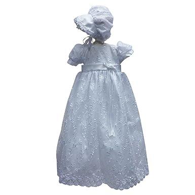 05a10488d Amazon.com  Castle Fairy Baby Girls Newborn Christening Gowns ...