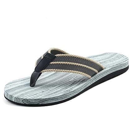 CS Chanclas Grises de los Hombres Zapatillas de Playa Respirables de la resbalón del Verano Zapatillas