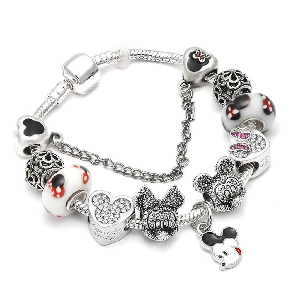 Friedman Vintage Silver Color Charm Bracelet with Tree of Life Pendant /& Gold Crystal Ball Brand Bracelet Dropshipping