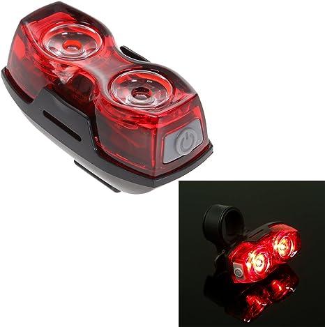 Trendyest Luz Intermitente LED para Bicicleta (2 Ledes, luz Trasera de Seguridad): Amazon.es: Deportes y aire libre