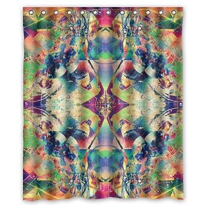 Amazon.com: WECE Psychedelic Trippy Colorful Art Waterproof Bathroom ...