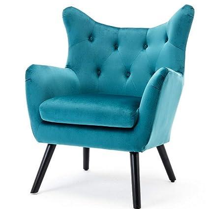 Amazon.com: Hebel Wingback Club Chair Fabric Living Room ...