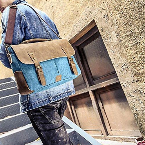 YanRun - Bolso bandolera  Hombre multicolor marrón azul